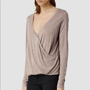 HOT🔥 AllSaints Kerin Long Sleeve Top M Crossover